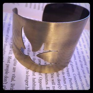 Jewelry - Flying bird bangle bracelet copper / gold tone